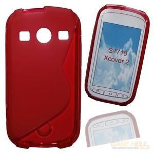 Silikonhülle,Silikon Case für Samsung Galaxy XCover 2 GT-S7710 - rot - Cover