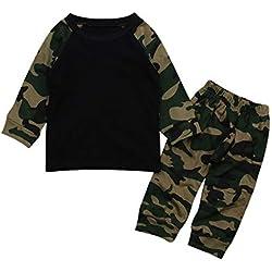 YanHoo Baby Long Sleeve Camo 2 Piezas Set Recién Nacido bebé niño Ropa Camuflaje Camiseta Tops + Pants Outfits 2pcs Set Ropa Linda Cheap Ropa de niños Conjunto de Ropa para niños