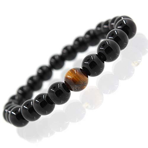 Natural Tiger Eye Energy Stein Retro-chinesische Windhand Saiten Buddha Perlen Armband 8CM