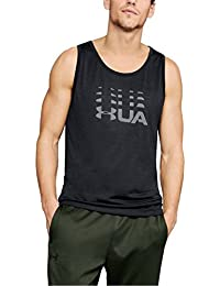 Under Armour UA Tech - Camiseta de Tirantes para Hombre, Hombre, 1321994-001, Negro y Gris, Medium