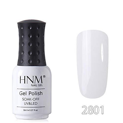 HNM Gel de Couleur Pierre PrécieuseVernis Semi-Permanent Soak Off UV LED Vernis À Ongles Apprêt Gel Polonais Salon Manucure 8ML LLJ-2801