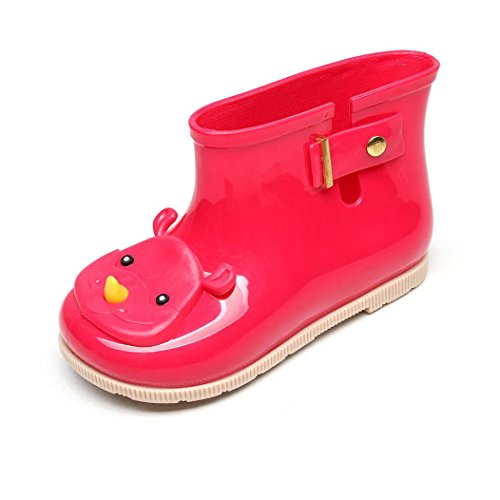 Huhua Baby Wellies, Child Waterproof Rubber Solid Color Rain Boots Kids Children Rain Shoes for 0-6 Years Old