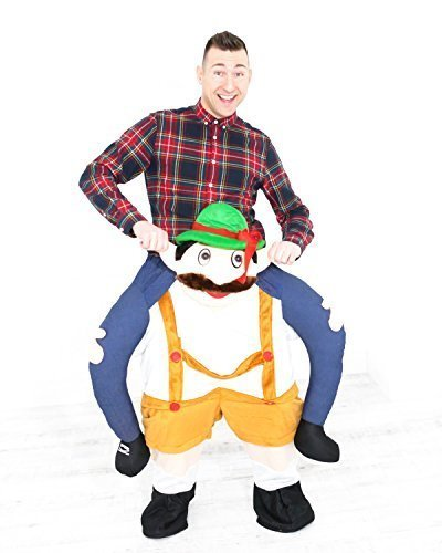 Carry Ride Me Costume Oktoberfest Bavarian Beer Guy Teddy Mascot Trag mich Kostüm Shoulder (Bavarian Guy)