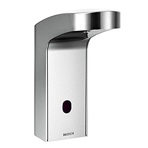 Moen 8551AC Mpower Sensor Operated Single Mount Above Deck Lavatory High Arc Ac Powered Non Mixing Faucet by Moen