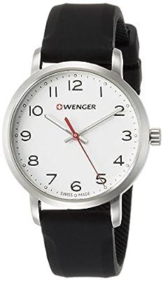 WENGER Reloj Analogico para Unisex de Cuarzo con Correa en Silicona 01.1621.103 de WENGER