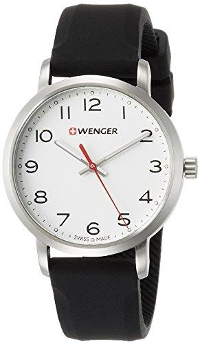 WENGER Reloj Analogico para Unisex de Cuarzo con Correa en Silicona  01.1621.103 ec7b700ebc20