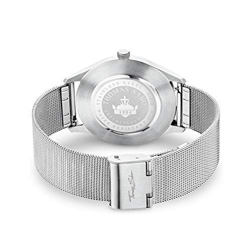 Thomas Sabo Unisex-Uhr Edelstahl CODE TS silber weiß WA0338-201-202-40 mm