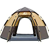Hewolf Pop Up Tent for 3 to 4 Men - Automatic Opening Hexangular