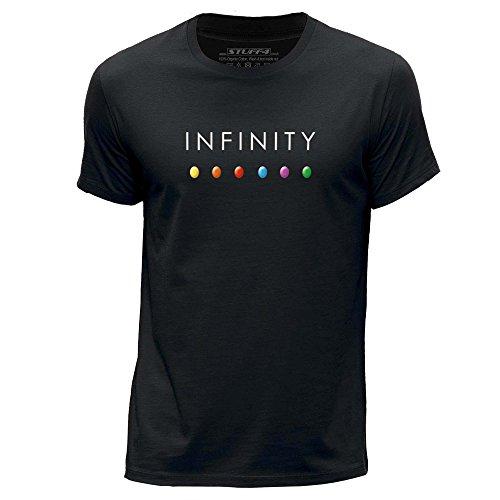 Stuff4® Herren/Mittel (M)/Schwarz/Rundhals T-Shirt/Infinity Gem Steine