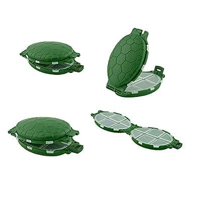 Sedeta 12 Compartments Tortoise Shape Plastic Turtle Fishing Lure Hooks Tackle Box Storage Case tackle boxes tackle box from Sedeta