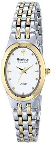 armitron-femme-75-5196svtt-diamond-accented-dial-two-tone-oval-shaped-bracelet-montre