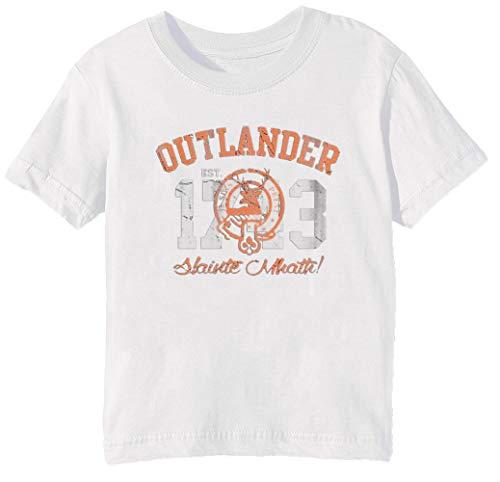 Outlander - Outlander Kinder Unisex Jungen Mädchen T-Shirt Rundhals Weiß Kurzarm Größe L Kids Boys Girls White Large Size L (Jam Space 11 Kids)