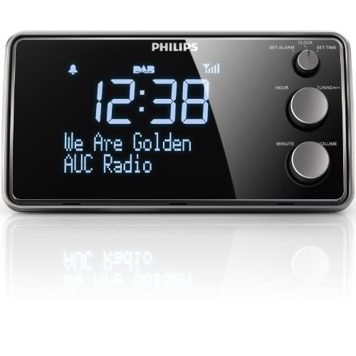 Philips AJB3552/12 Radiowecker (LCD-Display, DAB+/Digitalradio, Sleeptimer, Gentle Wake, DBB, FM digital tuning) (schwarz) - 2