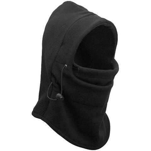 RHX 6-In-1 tejido polar térmico pasamontañas modelo usado por la policía capucha para traje de buzo Swat New tapón para botella de máscara para bicicleta de viento de esquí