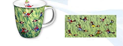 magicaldeco XL- Porzellan- Tasse, Kaffeepott, Kaffeebecher - Harz- Hexen- grüner Wald
