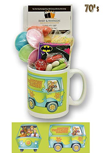 Scooby Doo Mug with Ghostly Selection of 1970's Retro Sweets.