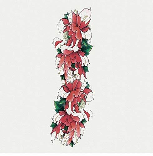 Kundengebundene Tätowierungsaufkleber voller Arm 3d Tätowierungsaufkleber für Männer und Frauen, die dauerhafte große Blumen voller Arm wasserdichter sicherer ungiftiger @ TQB-40_170 * 480mm (Engel Halloween Make-up Ideen)