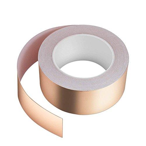 Kupferband 30M x 50mm, Vegena Kupferfolienband EMI Copper Foil Tape Abschirmband Kupferfolie Kupferband Selbstklebend Klebeband Schneckenband Schneckenschutz