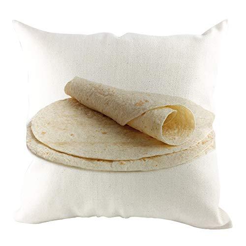 Deloito Mexikanischer Burrito Mustern Zierkissenbezüge Home Bed Decor Kurzer Plüsch Kissenbezug Sofamatten-Set Wohnkultur (A,45x45cm) (Throw Mexikanische Kissen-abdeckungen)
