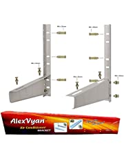 AlexVyan Special Coated Super Quality Split Ac Air Conditioner Outdoor Unit Wall Mounting Bracket Stand Mount for 1 Ton, 1.1 Ton, 1.2 Ton, 1.5 Ton, 2 Ton for All Company Ac Outdoor Units (Pack of 1)