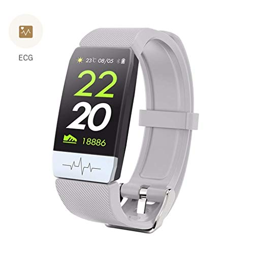 OPTA SB-152 Rubber Hygiea Bluetooth ECG,PPG Sensor and Heart Rate Sensor Smart Band and Fitness Tracker for All Android/iOS MobileMedium (Grey)