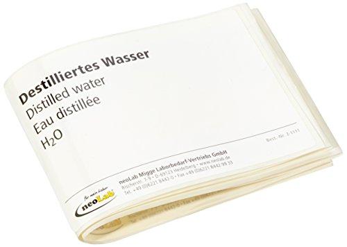 en-Etiketten Dest. Wasser (10-er Pack) (Wasser-flasche-etikett)