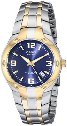 Casio EF106SG-2AV - Reloj Edifice analógico, sumergible a 100 m, color dorado y cromo