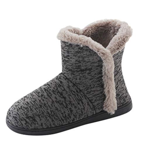 Maleya Winter Herren Modelle Hausstiefel Weiche warme Hausstiefel aus Dicker Baumwolle Mittelrohr Schneeschuhe Fashion Flache Absätze Winterschuhe Stiefel Schuhe dünne Ferse Schuhe Plattform Booties -