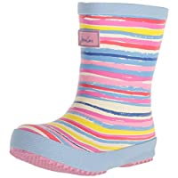Joules Baby Printed Wellies - White Rainbow
