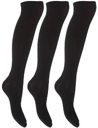 Chaussettes montantes unies (lot de 3 paires) - Femme