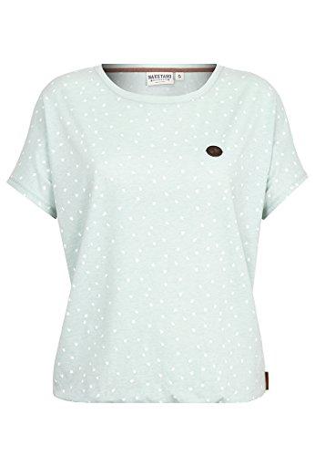 Naketano Female Shortsleeve EyHammaAltaLaaaaaba III Milky Green Melange, L (Short Sleeve Shirt Iii)