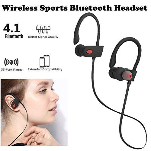 chlliacrow Bluetooth In-Ear-Kopfhörer Sport Kopfhörer Sportohrbügelkopfhörer JLA6 Intelligent Kabellos In-Ear-Ohrhörer Bluetooth-Headset Stereo-Kopfhörer für den Sport Dual-bud-stereo