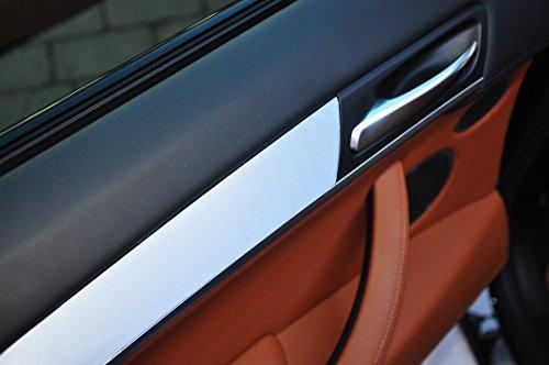 Preisvergleich Produktbild 12 tlg. Alu gebürstet silber Interieurleisten 3D Folien SET 100µm stark , Türleisten, Mittelkonsole, Aschenbecher passend für Ihr Fahrzeug