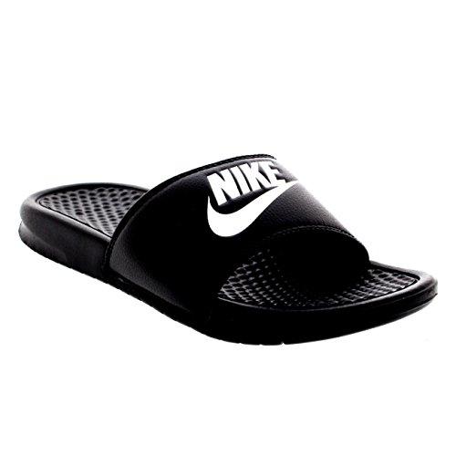 Nike Benassi JDI de Hombre, Playa y Piscina Sandalias, Hombre, Negro/Blanco, 10 D(M) US