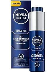 NIVEA MEN Active Age Regenerierende Nachtpflege im 1er Pack (1 x 50 ml), straffende 6in1 Gesichtscreme für Männer, Anti Age Nachtcreme