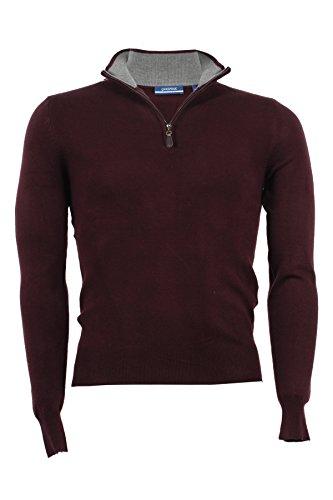 Pullover mezza zip Aigle bordeaux, L