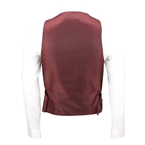Nuovo da uomo blu tweed Check 3tuta venduto separatamente Blazer pantaloni gilet Waistcoat-U Neck-Maroon
