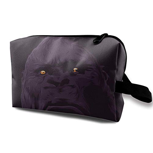 Gorilla Art Design Magic Makeup Bag Lazy Cosmetic Bag Portanle Travel Handbag -