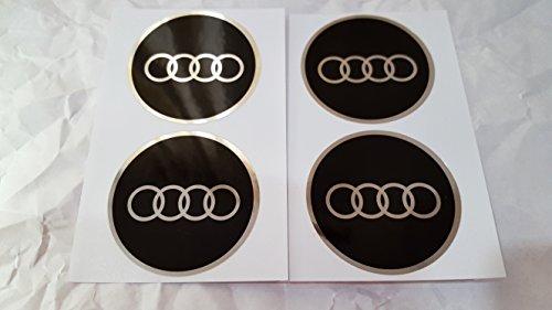 Preisvergleich Produktbild 4 x 55 mm Durchmesser Neu AUDI Rad Mitte Kappen Aufkleber Self Adhesive Emblem Decals Billig …