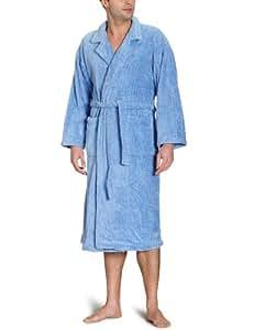 Buscher Teddy 3099110-16-4020 Accappatoio con collo a scialle, Lurex, in felpa e microfibra, taglia XL, colore: Blu