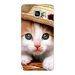 Innocent Cat Hat Back Case Cover for Galaxy A5 2016