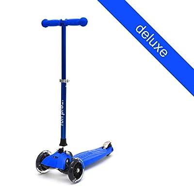 """fun pro"" Kinder Roller, Premium Qualität, TüV geprüft, LED Räder, faltbar, ideal ab 3 Jahre (Kinderroller, Kickboard, Tretroller)"