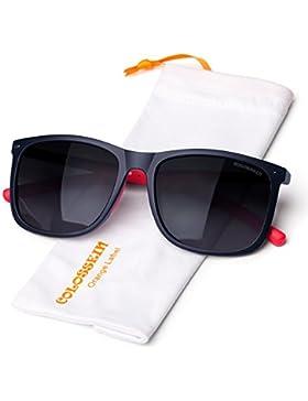COLOSSEIN Gafas de Sol Hombre Polarizado,Alta calidad ,TR90 Marco de Memoria,UV400 Proteccion Ojos,para Big Face