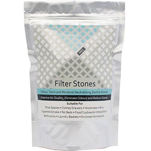 IP03 Zeolite Rocks - Piedras neutralizadoras de olores (500 g) para Eliminar olores de Gatos y Perros, desodorizador Natural, eliminador de Humedad