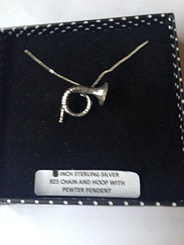 C22 Jagdhorn Anhänger Echt 925 sterling Silber Halskette Kette prideindetails 45.72 cm, handgefertigt, mit Geschenk-box