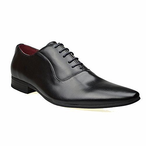 Mens Smart Fashion Black / Brown / Grey Leather Formal Lace Up...