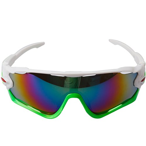 A-szcxtop Colorful Windproof Riding Sunglasses Cycling Goggles Bicycle Glasses Ourdoor Sport Unisex Sunglasses Eyewear
