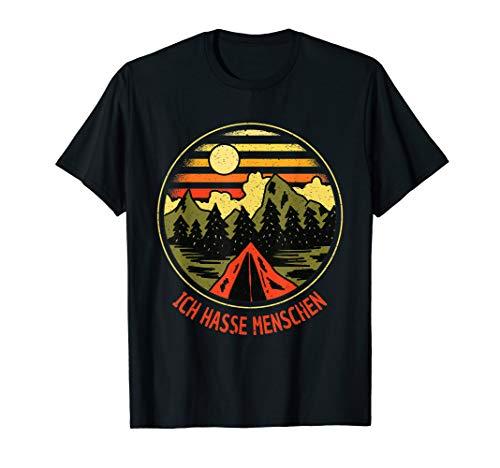 Ich Hasse Menschen - Retro Vintage Zelten Natur Camping T-Shirt