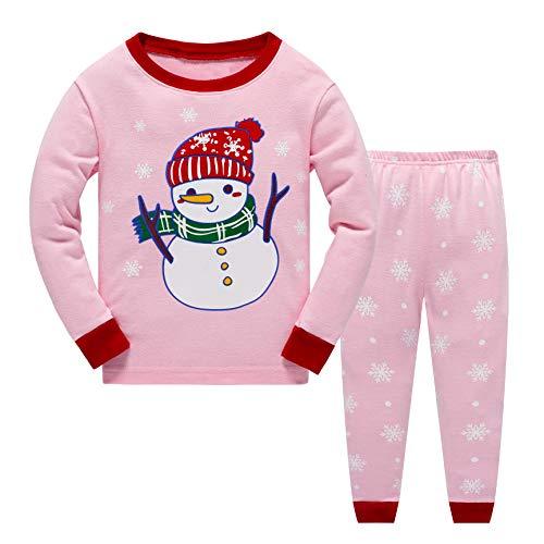 Tkiames Baby Boys Girls Christmas Pigiama Set per Bambini per Bambini Renna Costume Manica Lunga Pjs Nightwear Sleepwear 2–9Y Snow 7-8 Anni