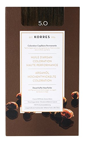 Korres Argan Öl hochentwickelte Coloration, light brown 5.0, 1er Pack (1 x 145 ml)